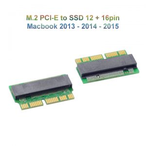 Adapter SSD M.2 PCIe to SSD 12+16pin Macbook Air Pro 2013 2014 2015