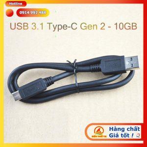 Cáp USB 3.1 Type-C Gen 2 tốc độ 10GB dài 0.6m Type-A sang Type-C