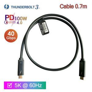 Cáp Thunderbolt 3 tốc độ 40Gbps hỗ trợ 5K 4K@60Hz sạc 20V-5A/100W PD