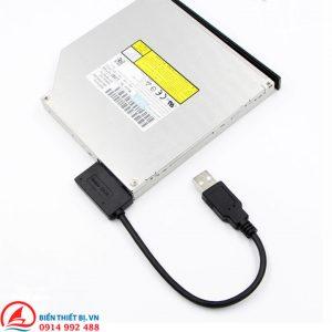 Cáp chuyển USB 2.0 sang DVD/CD Laptop Slimline SATA 13pin (7 + 6pin)